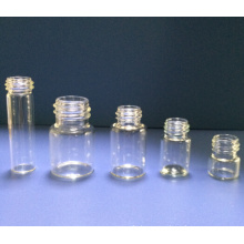 Clear Screwed Tubular Glass Vial for Pharma and Cosmetic Packing